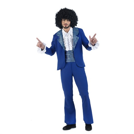 70´S DISCO COSTUME IN BLUE FOR MEN