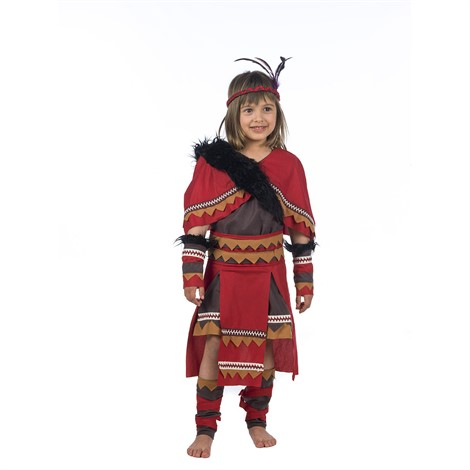 INDIAN-WARRIOR-GIRL RED COSTUME